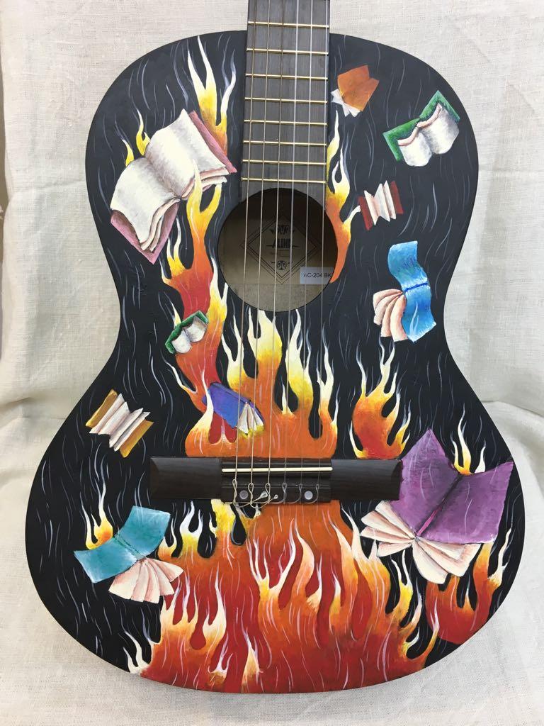 Рисунки на гитаре легкие